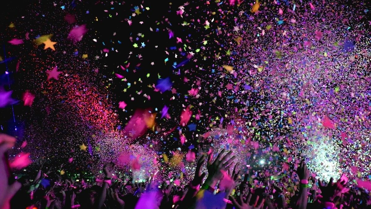 Confetti at a concert